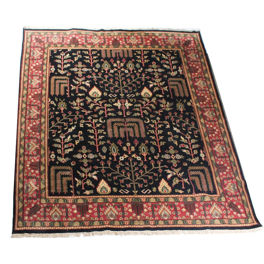 """Hand Knotted Indo Persian Obeetee Wool Area Rug Ebth: 11'7"""" X 9' Handwoven Indo Persian Ziglar Mahal Large Area"""
