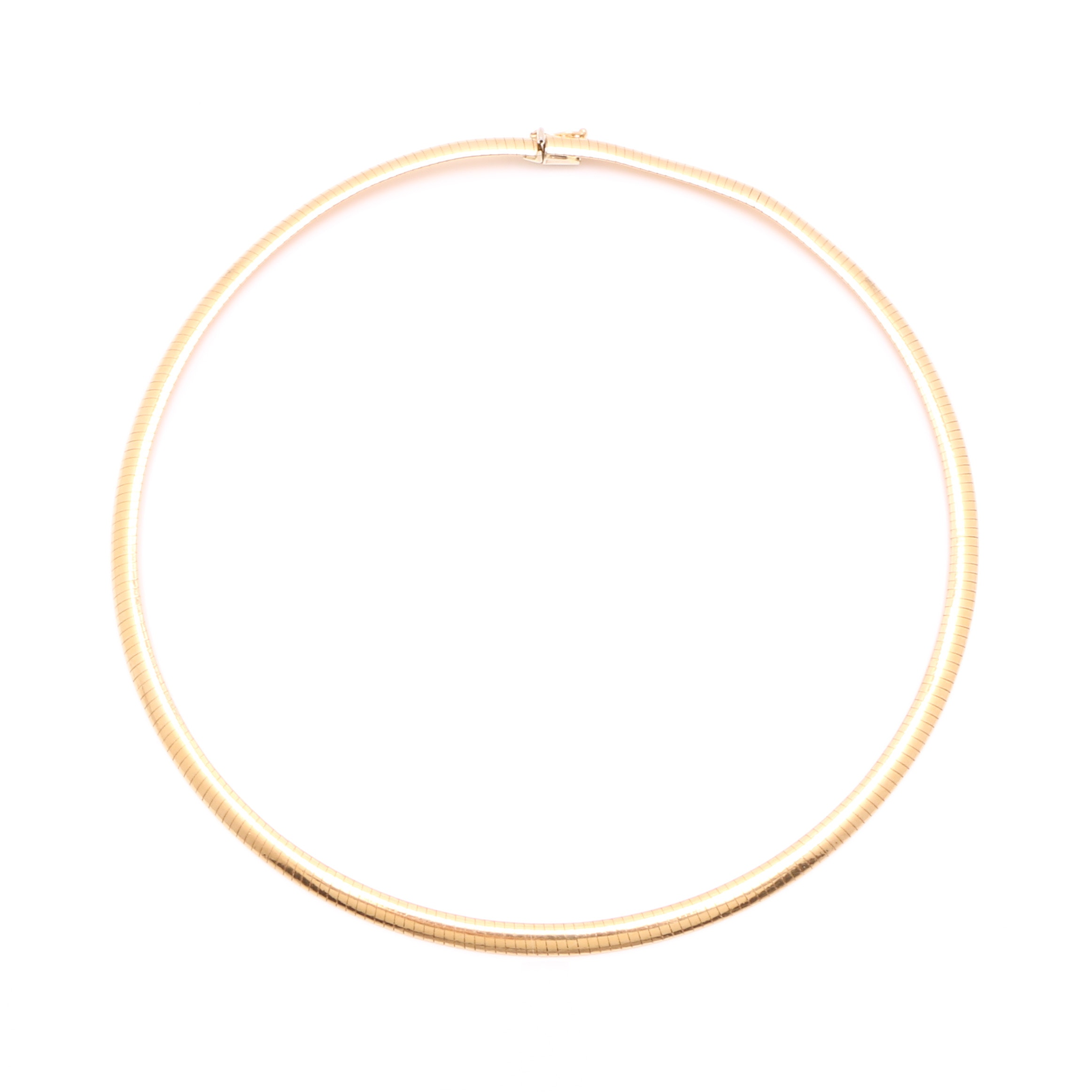 14K Yellow Gold Omega Chain Necklace