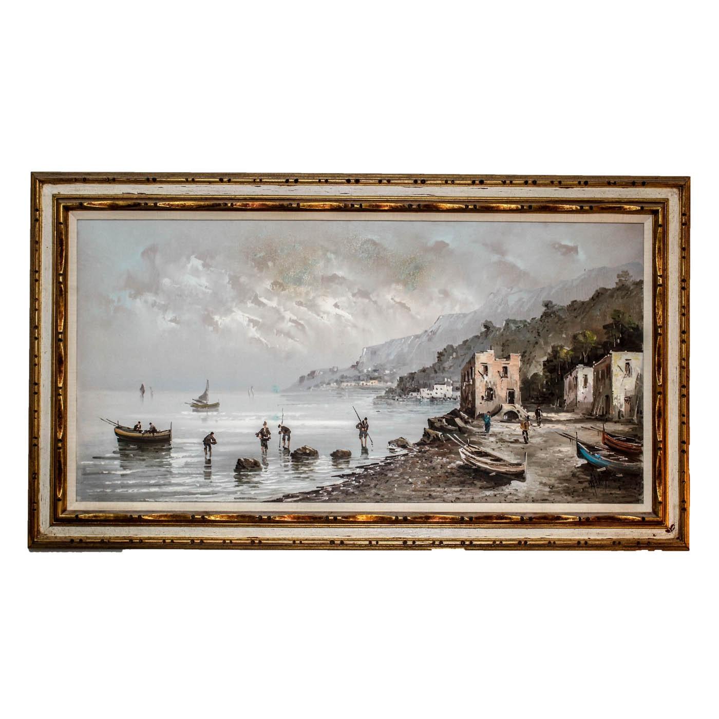 European Seascape Oil Painting