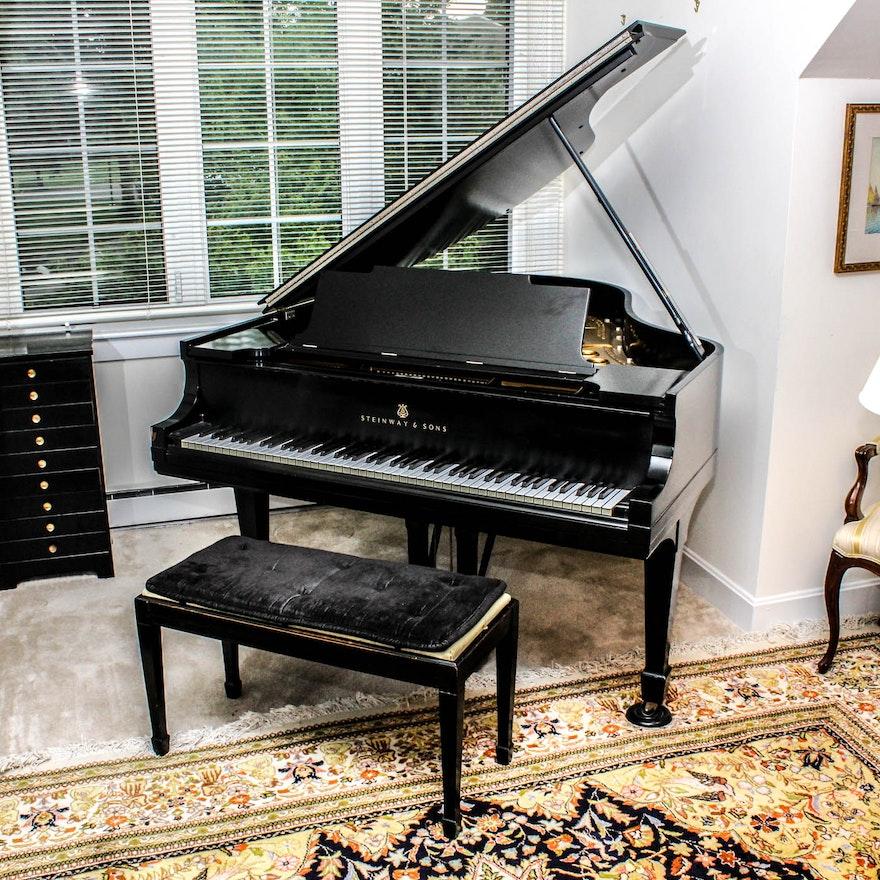 steinway sons medium grand piano model m ebth. Black Bedroom Furniture Sets. Home Design Ideas