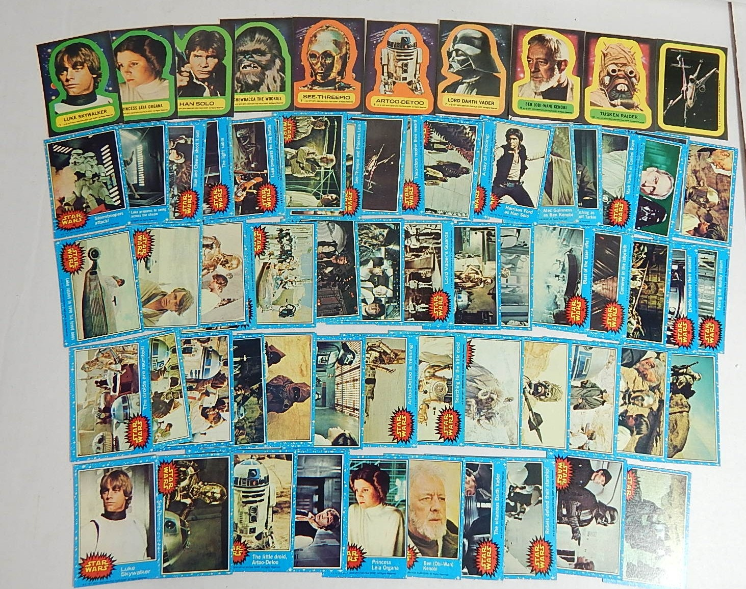 "1977 ""Star Wars"" Card and Sticker Collection, Complete Set"