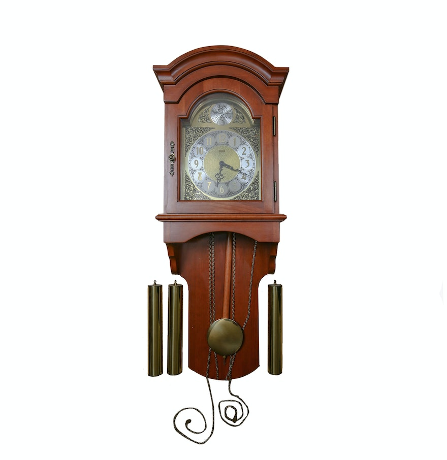 Tempus fugit emperor rosewood wall clock with pendulum ebth tempus fugit emperor rosewood wall clock with pendulum amipublicfo Image collections