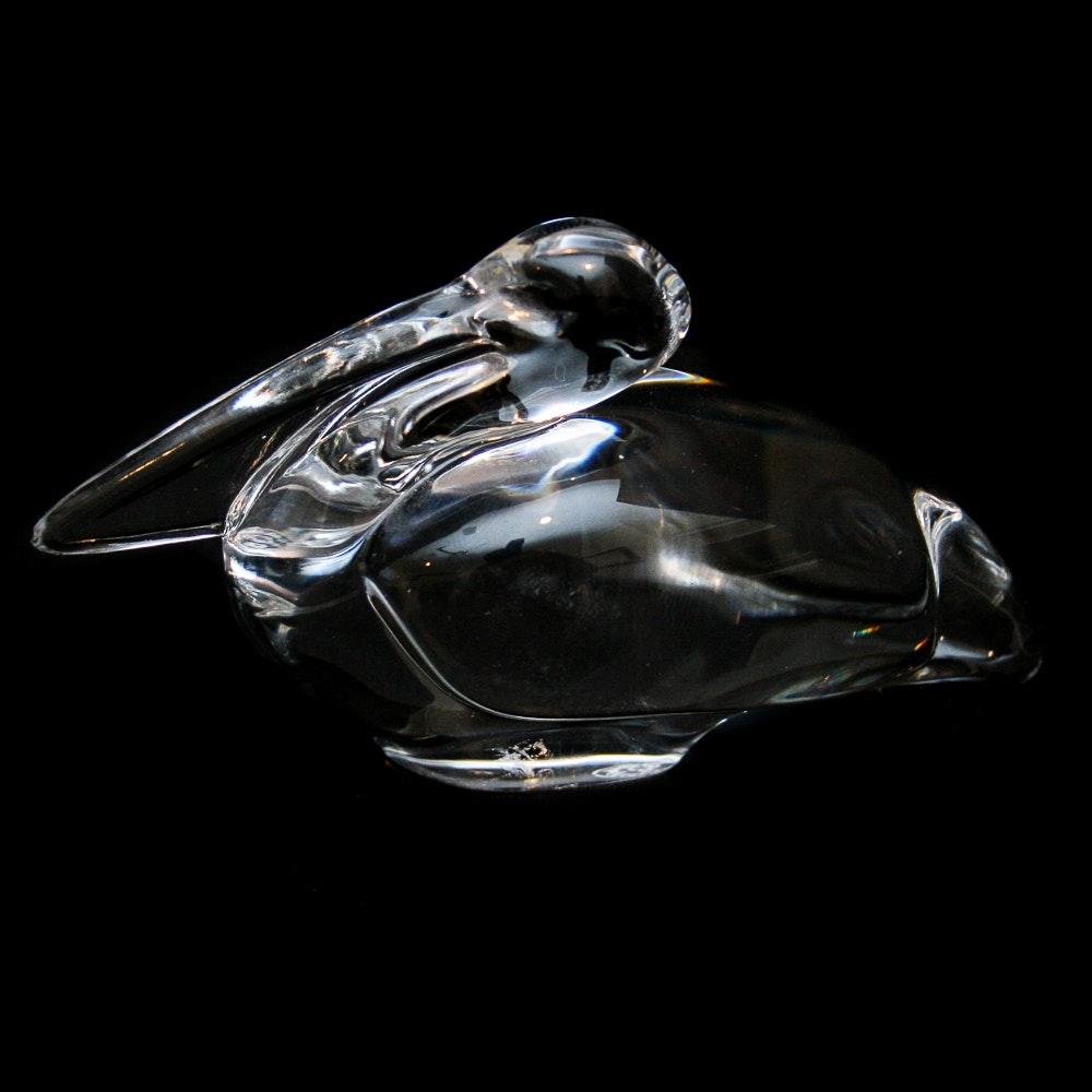 Baccarat Lead Crystal Pelican