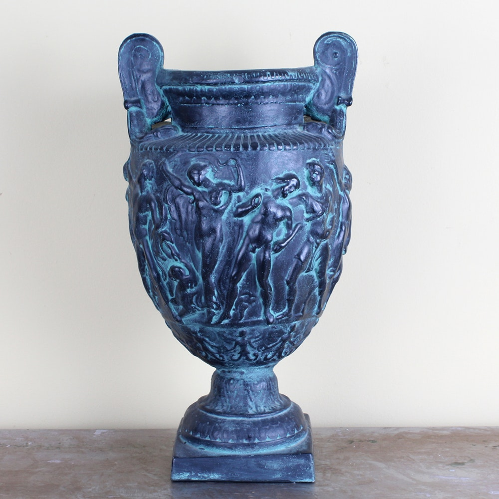 Plaster Grecian-Style Urn
