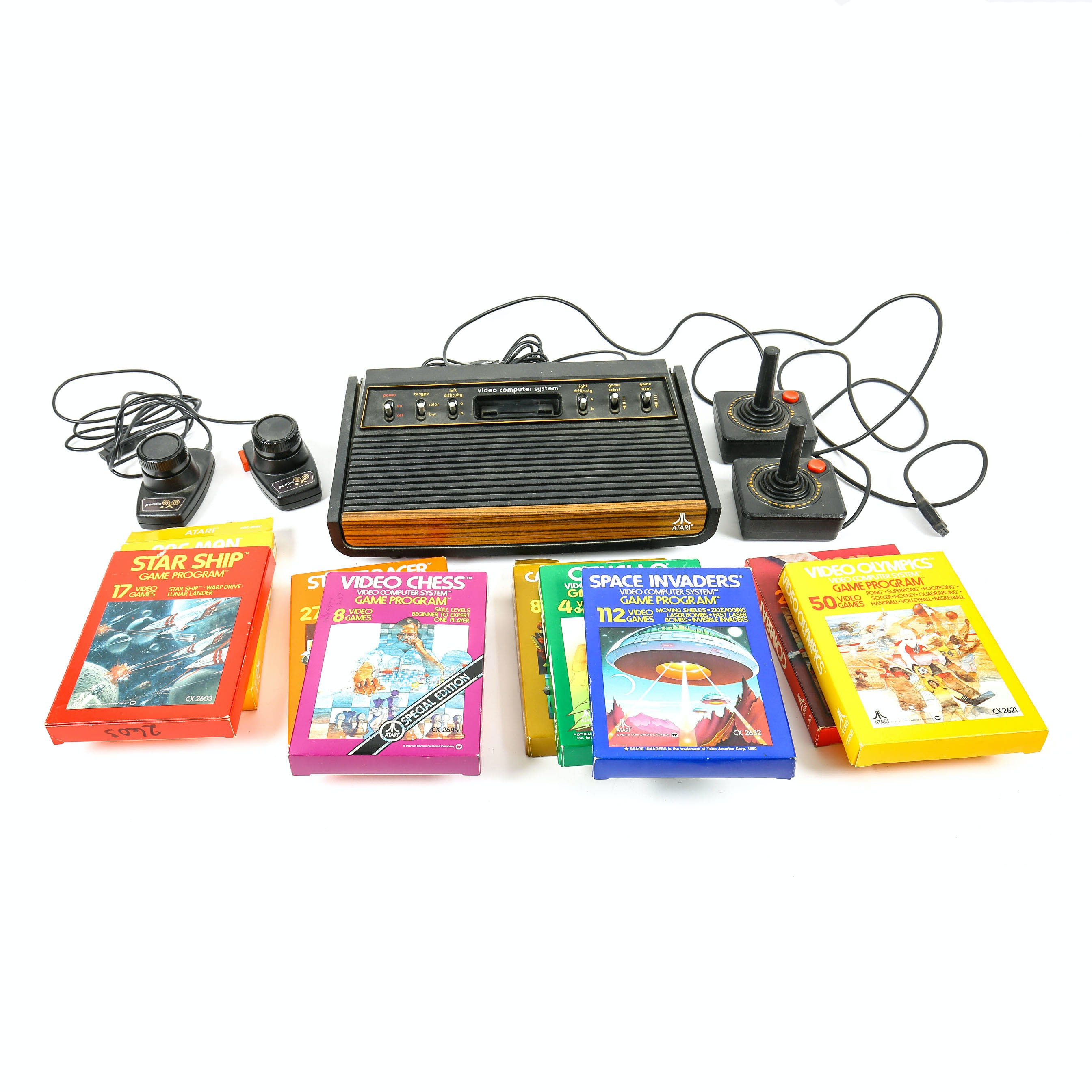 Atari Video Game Console and Games