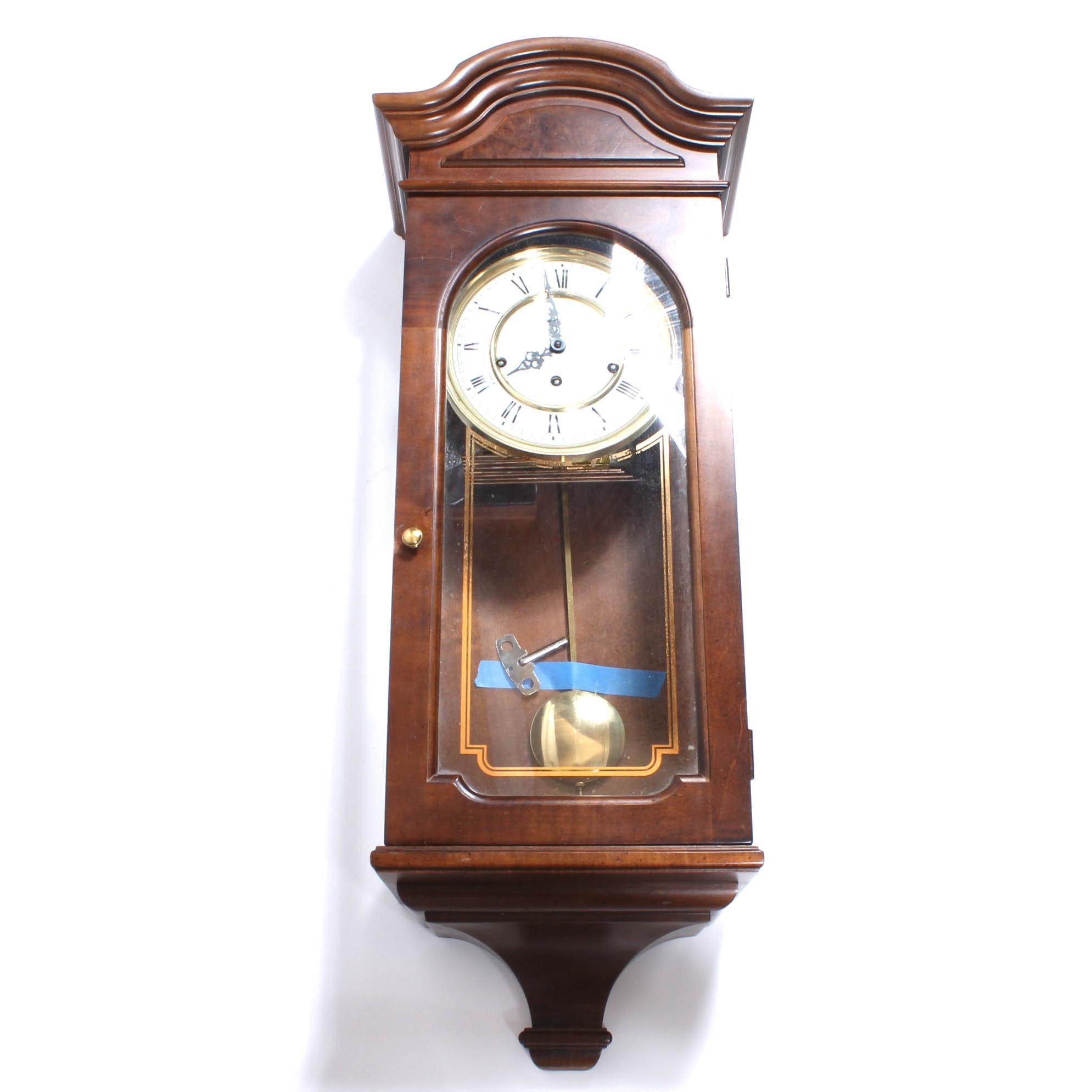 vintage howard miller pendulum wall clock