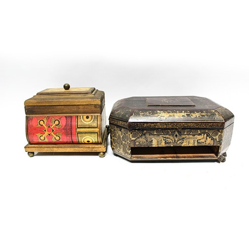 Two Decorative Trinket Boxes