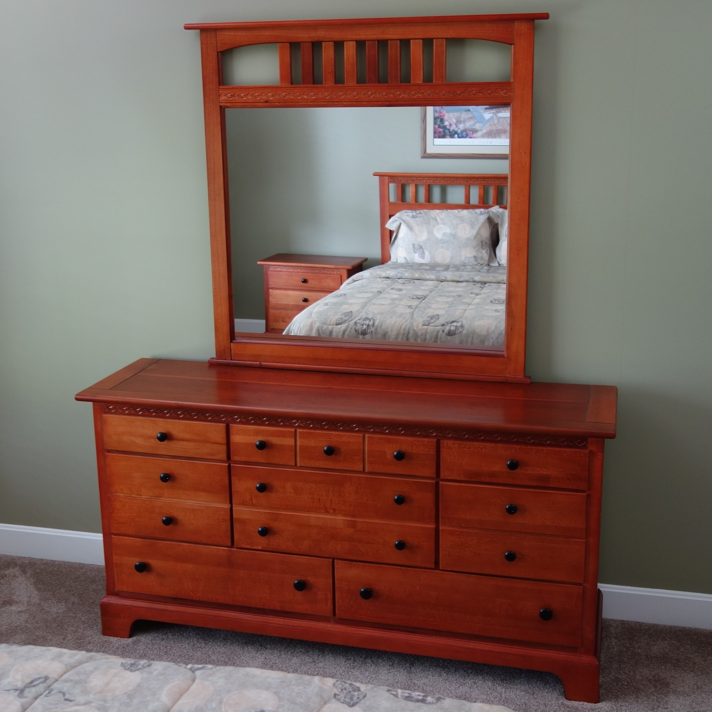 Contemporary Arts and Crafts Style Three-Piece Queen Bedroom Set