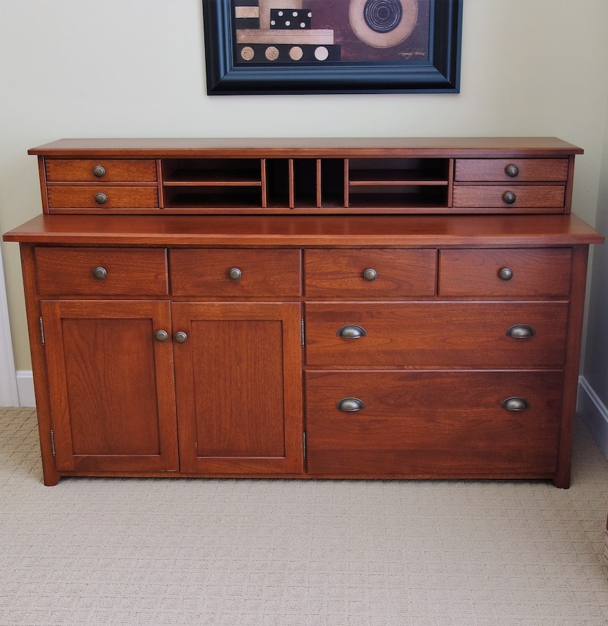 Office credenza with hutch by arhaus furniture ebth for Arhaus furniture