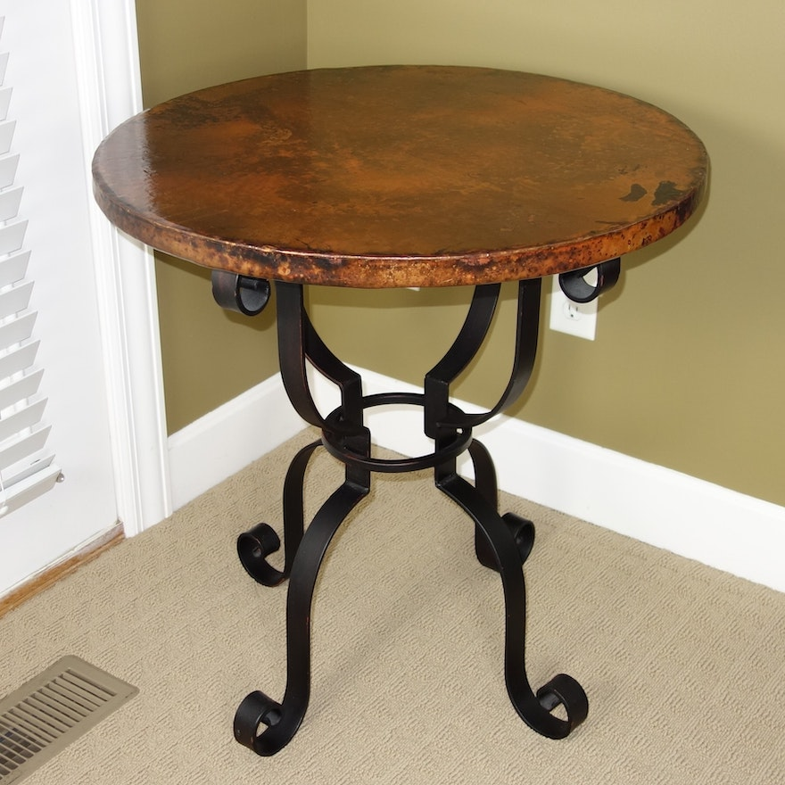 Normandy Copper Top Side Table By Arhaus Furniture