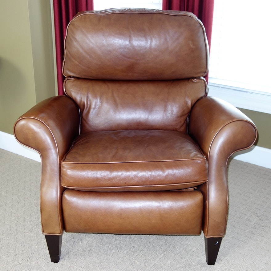 Superb Aveline Leather Recliner By Arhaus Furniture Onthecornerstone Fun Painted Chair Ideas Images Onthecornerstoneorg