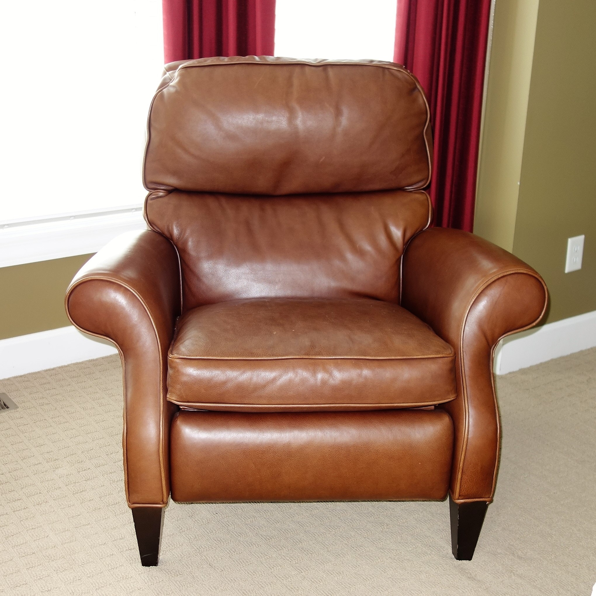 Aveline  Leather Recliner by Arhaus Furniture ... & Aveline