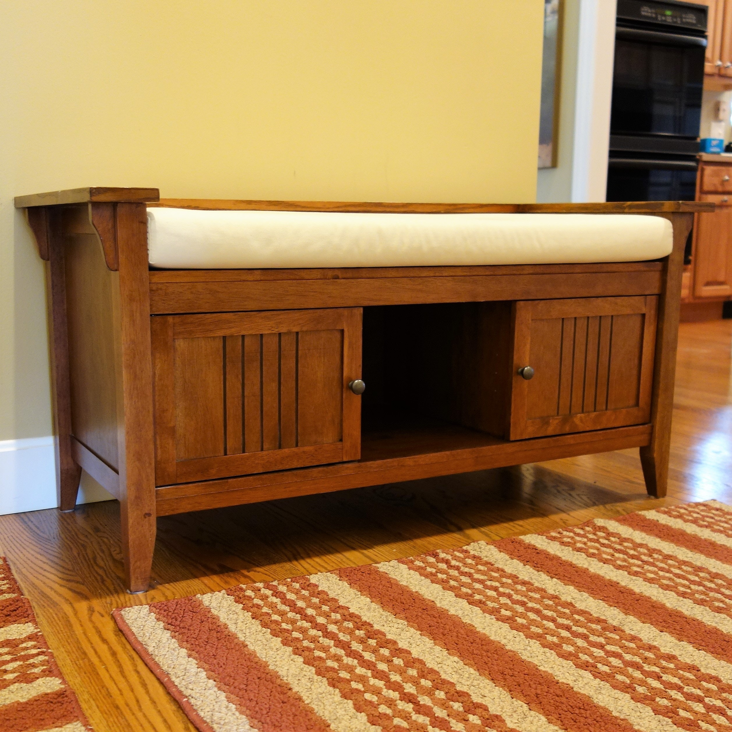 Contemporary Mission Style Hall Bench