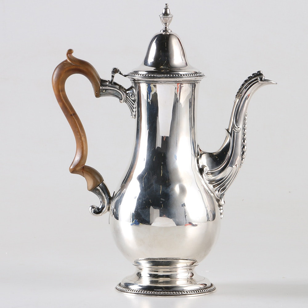 1804 British Sterling Silver Hot Chocolate Pot