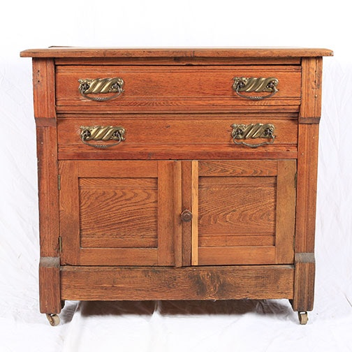 Antique Oak Washstand
