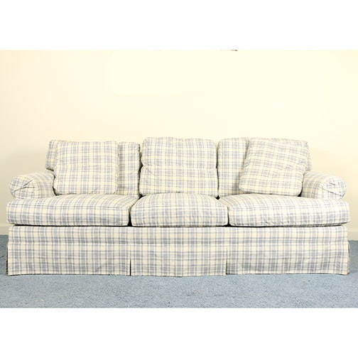 """Sovereign Collection"" Plaid Sofa by Hickory Chair"