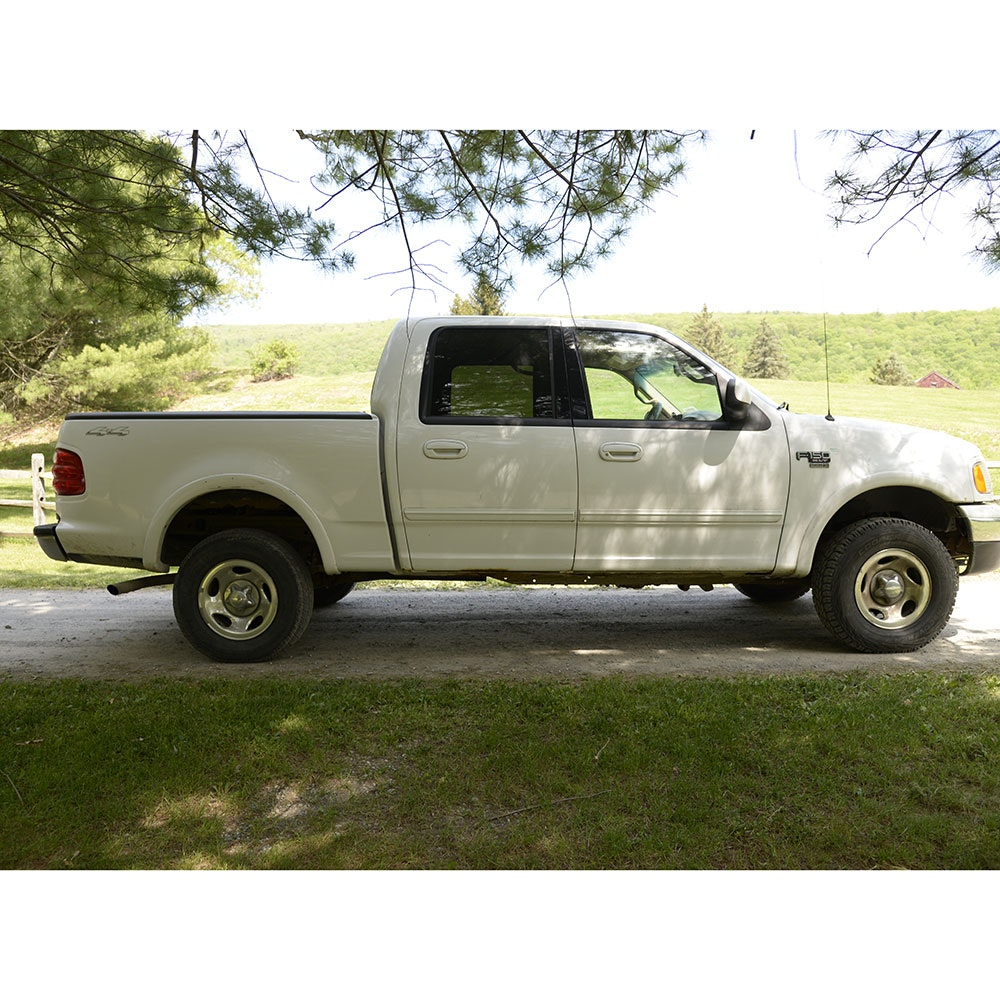 2002 Ford F-150 Full Size White Pickup Truck