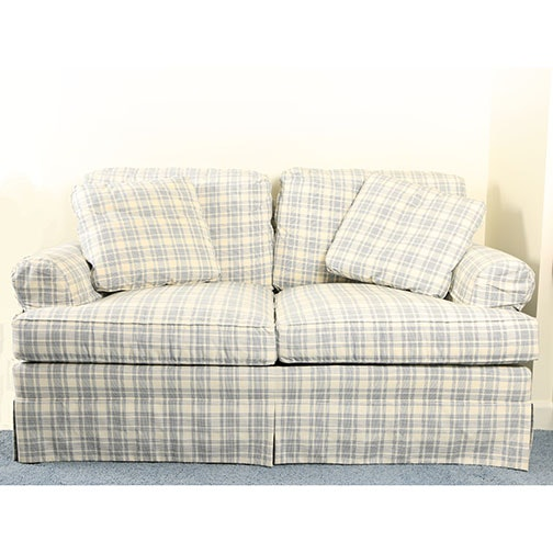 """Sovereign Collection"" Plaid Loveseat by Hickory Chair"