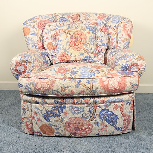 Floral Upholstered Armchair By Robert Allen Furniture ...
