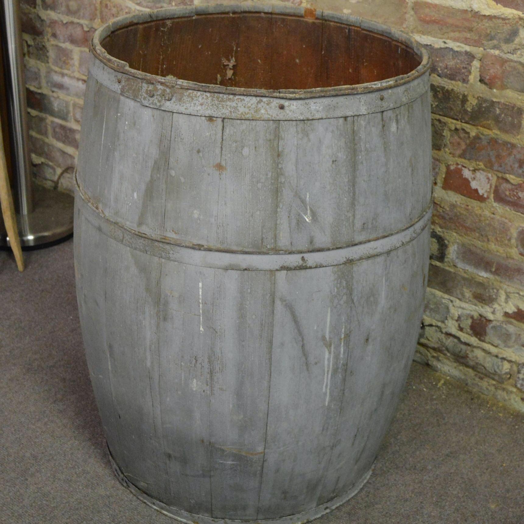 Painted Wooden Barrel