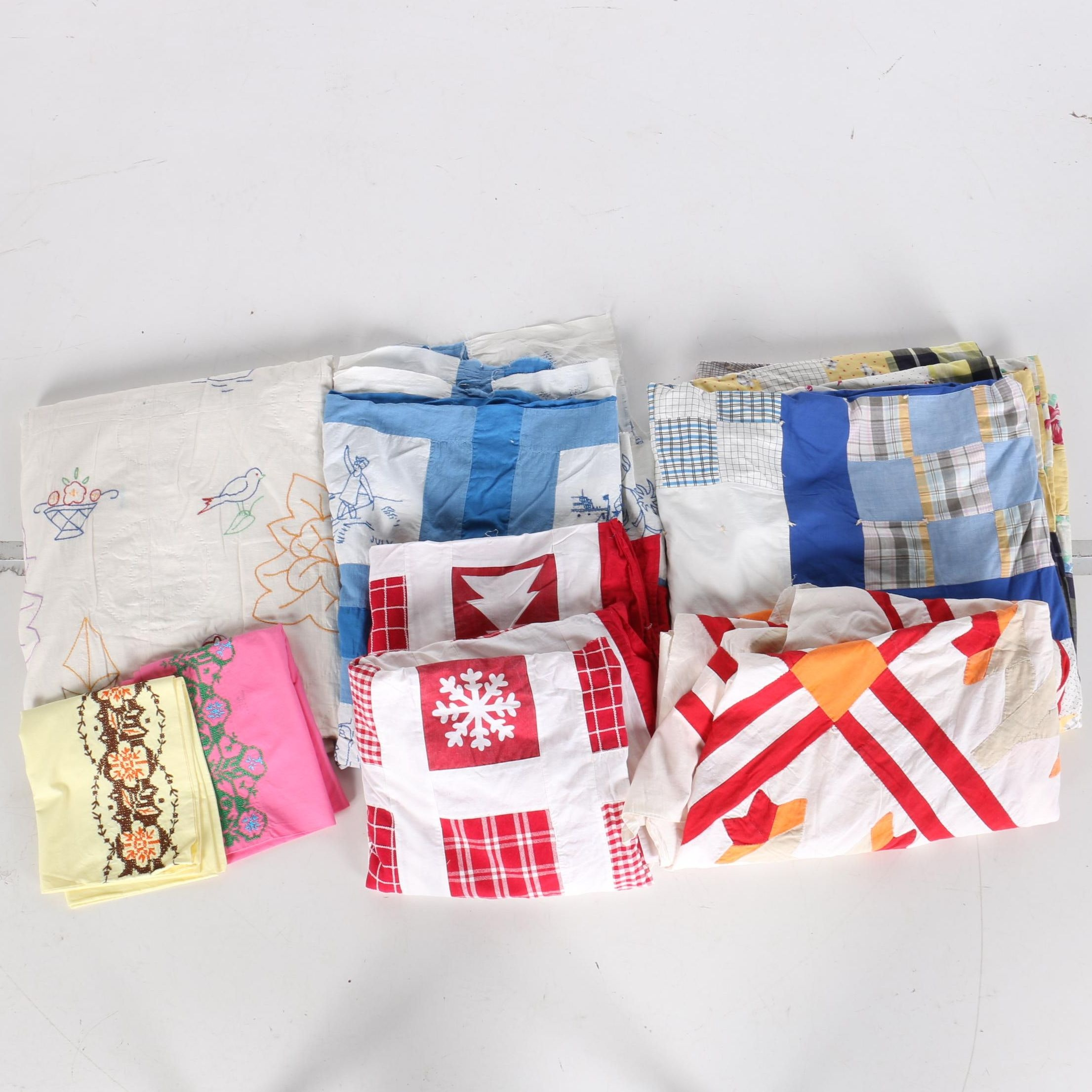 Assorted Quilts and Linens