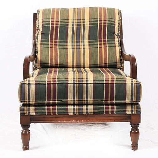 Plaid Upholstered Chair by Miles Talbot