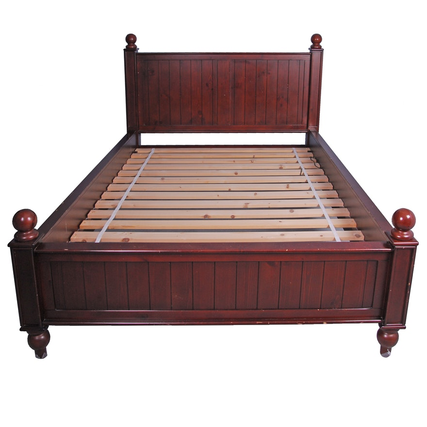 Pottery Barn Kids Thomas Espresso Finish Queen Size Bed Ebth