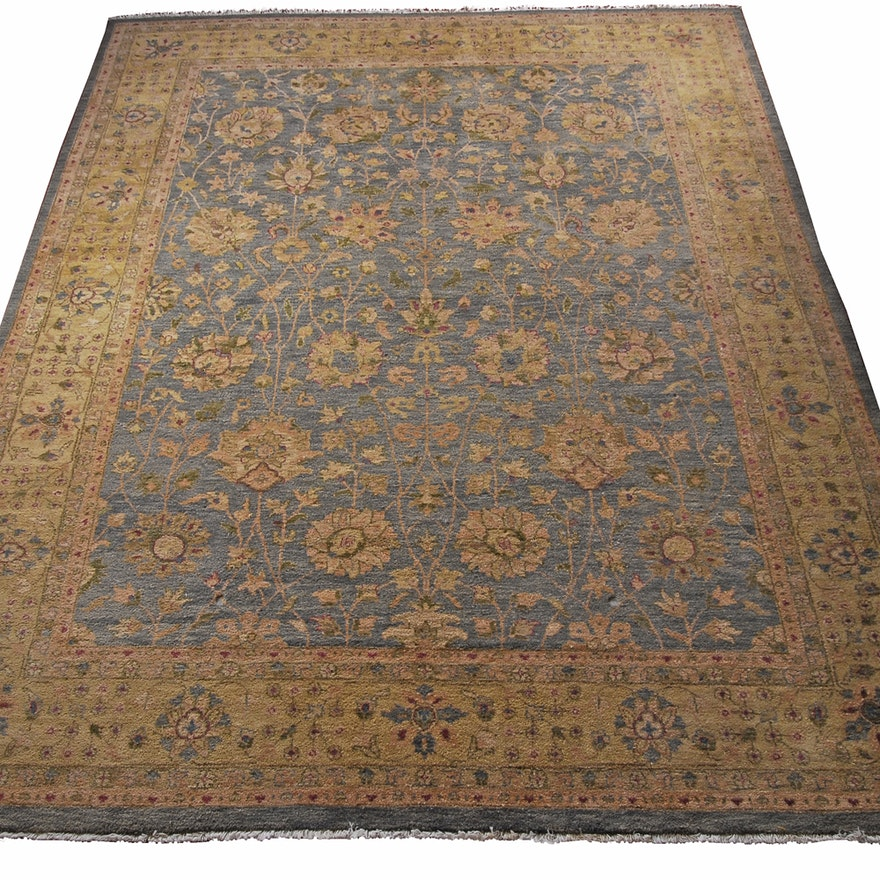 Hand Knotted Persian Wool Area Rug Ebth: Hand-Knotted Persian Wool Area Rug