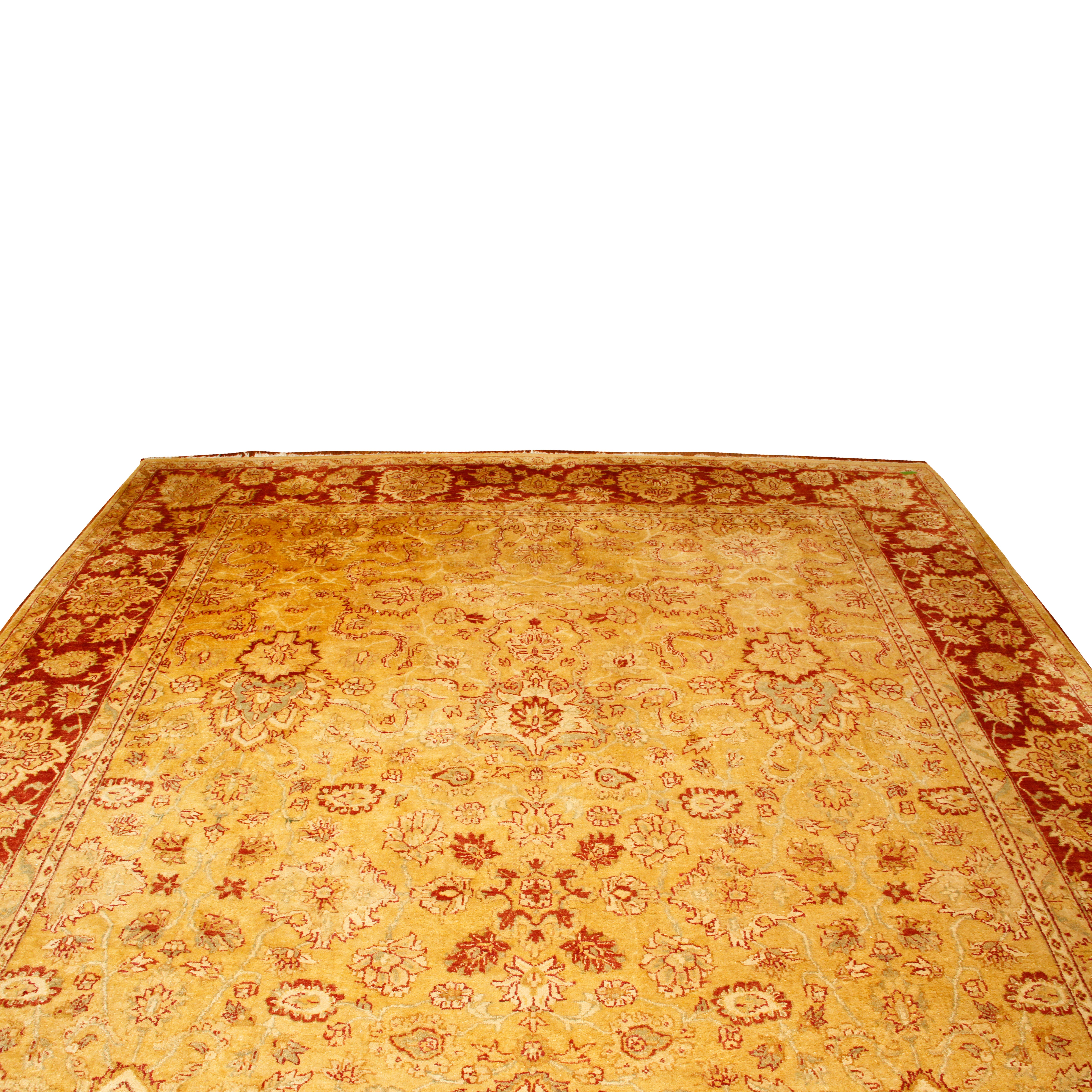 """Large Hand-Knotted """"Harshang"""" Area Rug"""