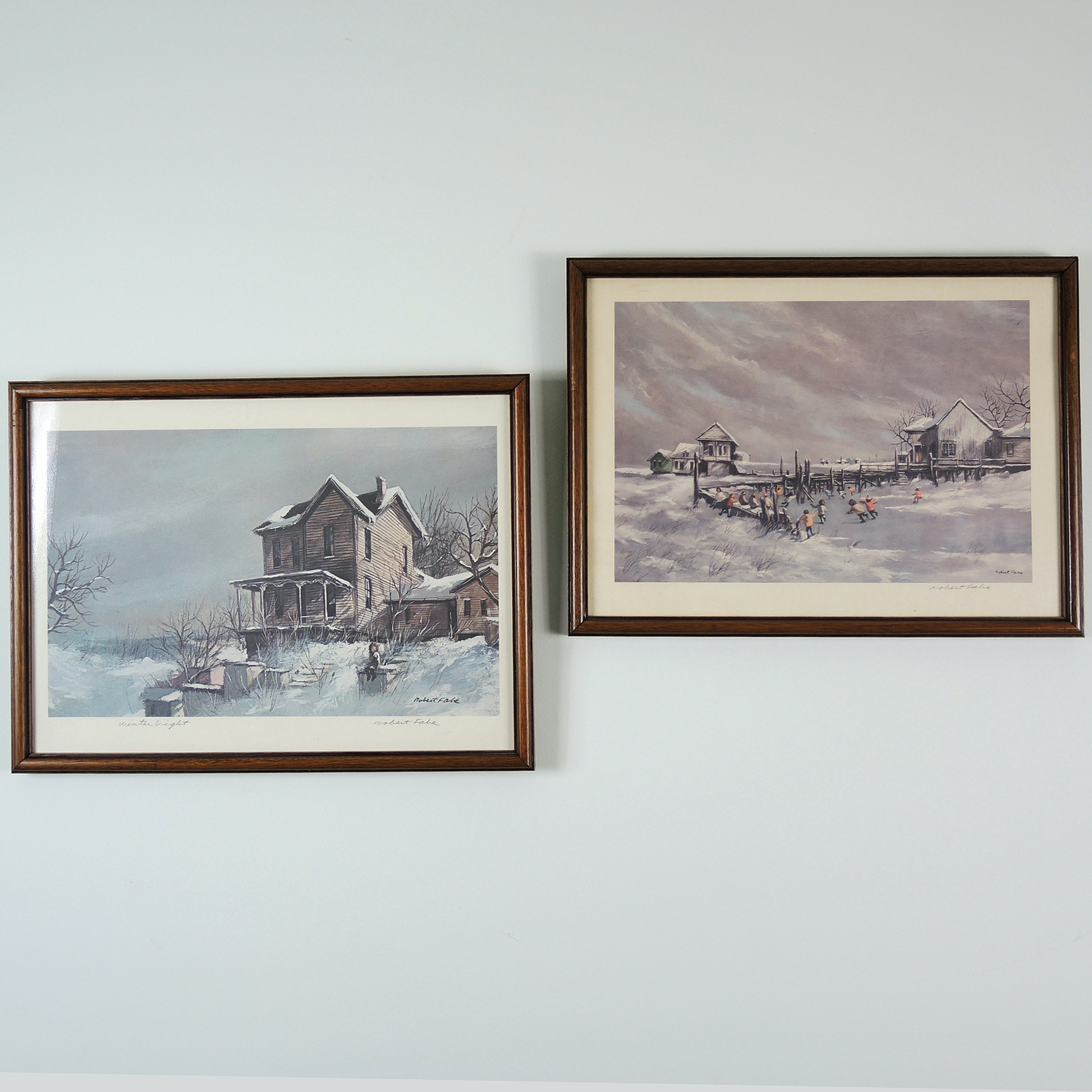 """Robert Fabe Signed Print Collection with """"Winter Light"""""""