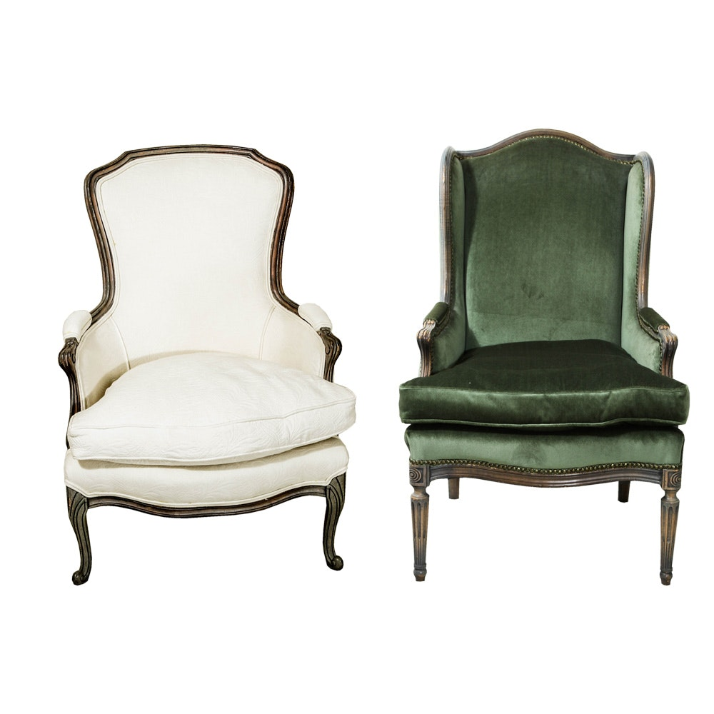 Two French Style Arm Chairs