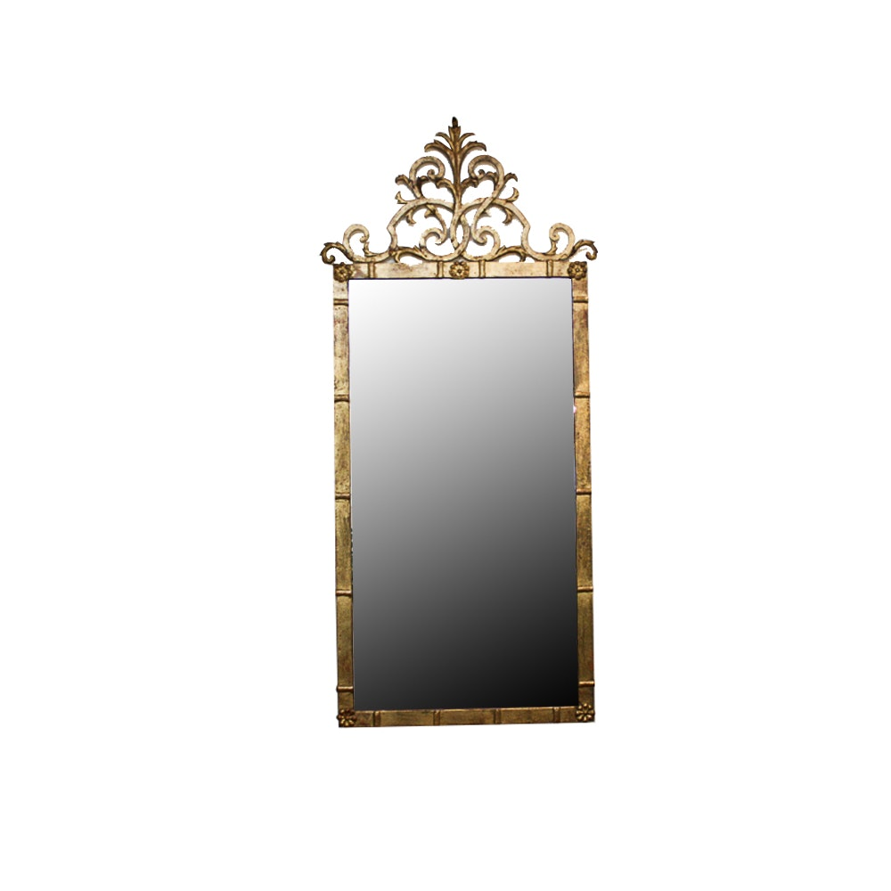 Ornate Gold Tone Wall Mirror