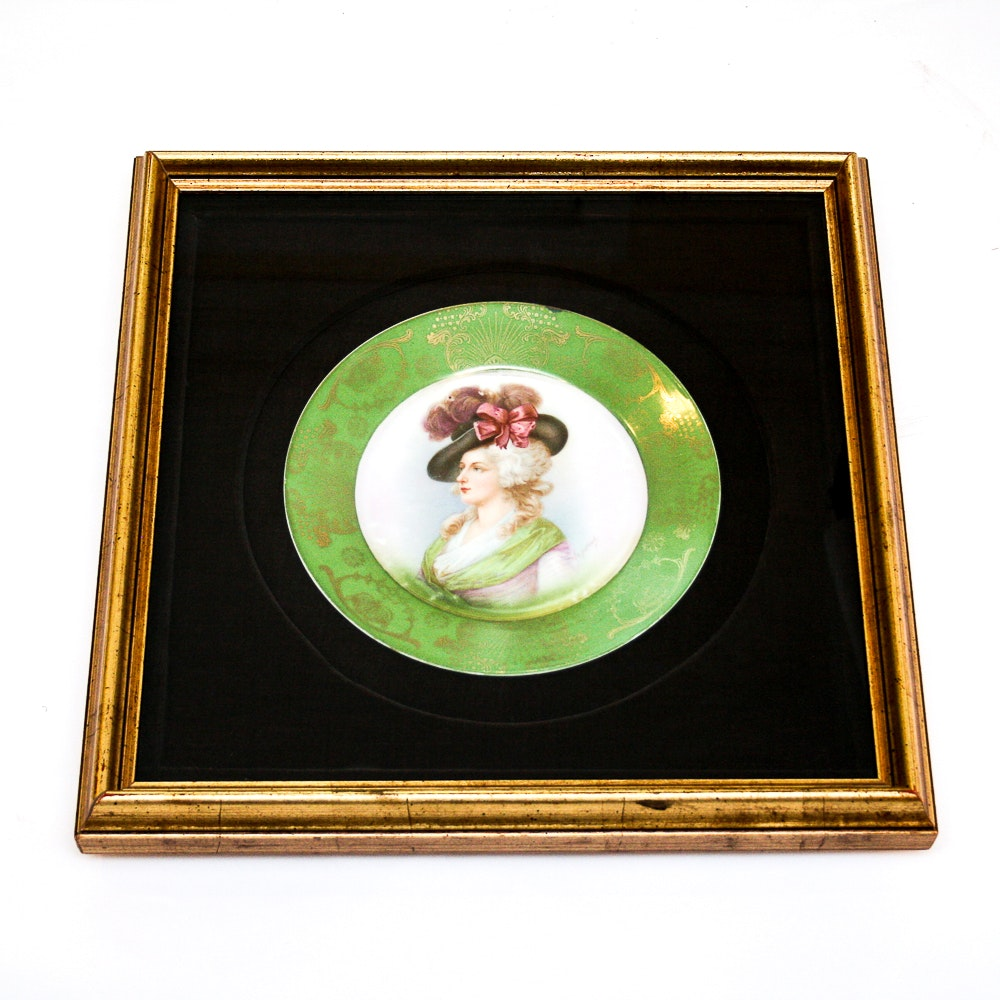 Framed Victorian Plate