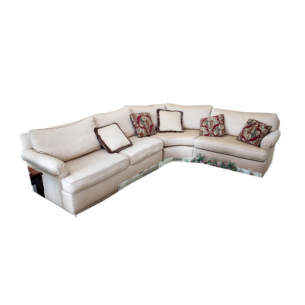 Gold Tone Contemporary Sectional Sofa