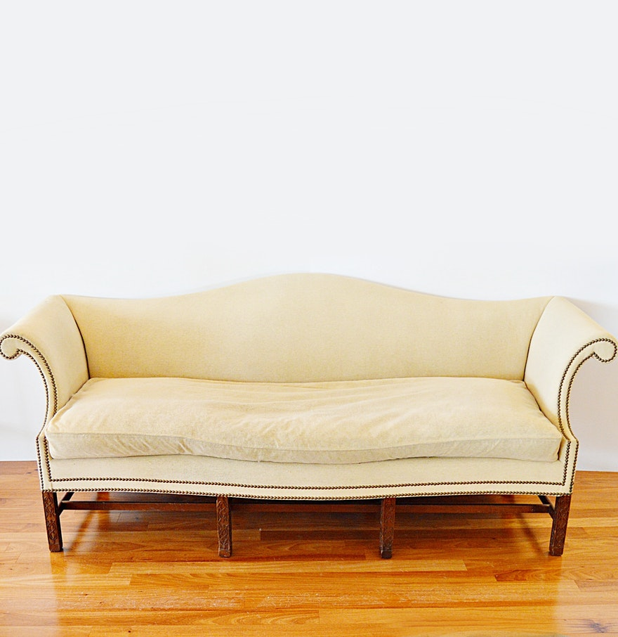 Chinese chippendale style sofa with down filled seat for Chinese style sofa