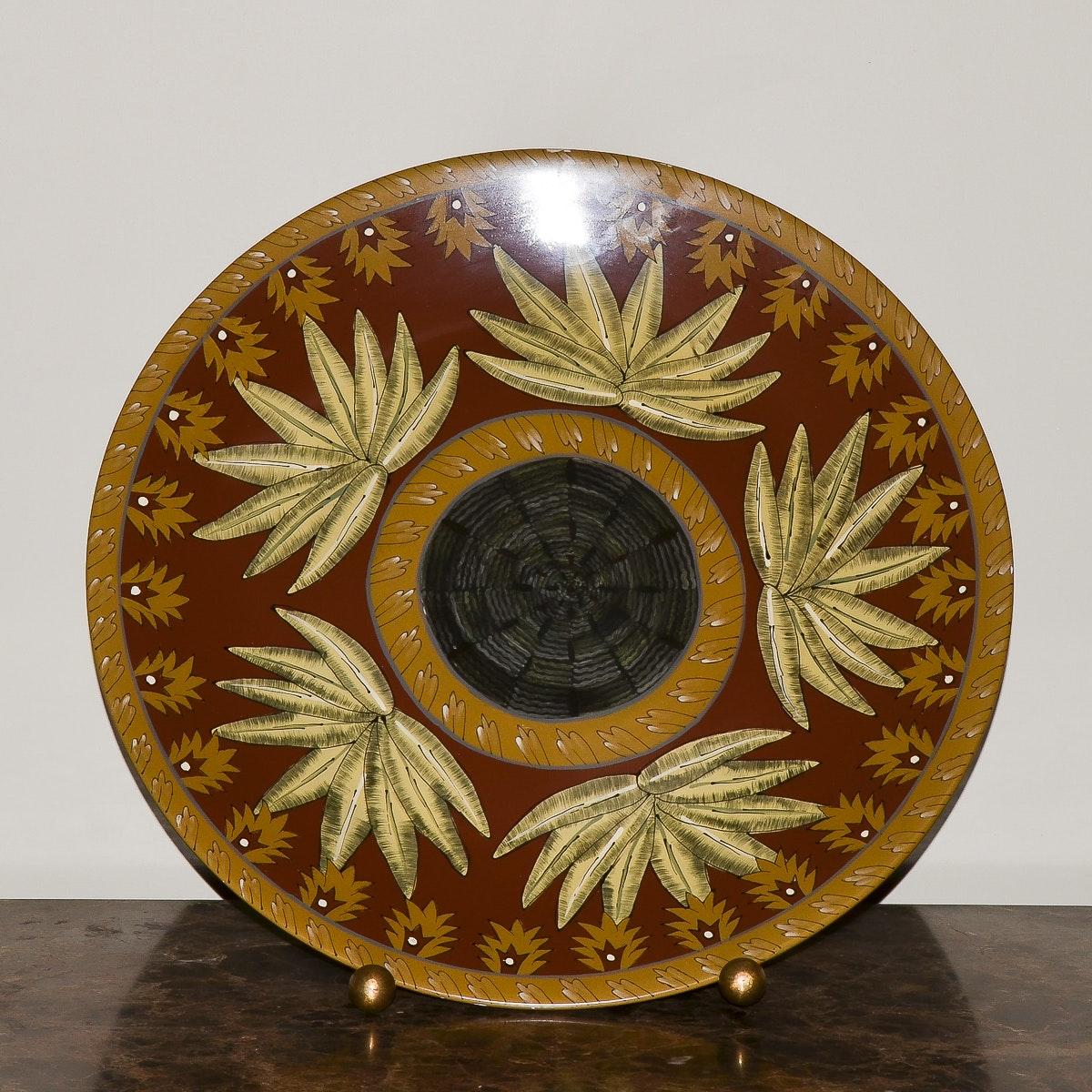 Furnitureland South Decorative Palm Leaf Platter ...