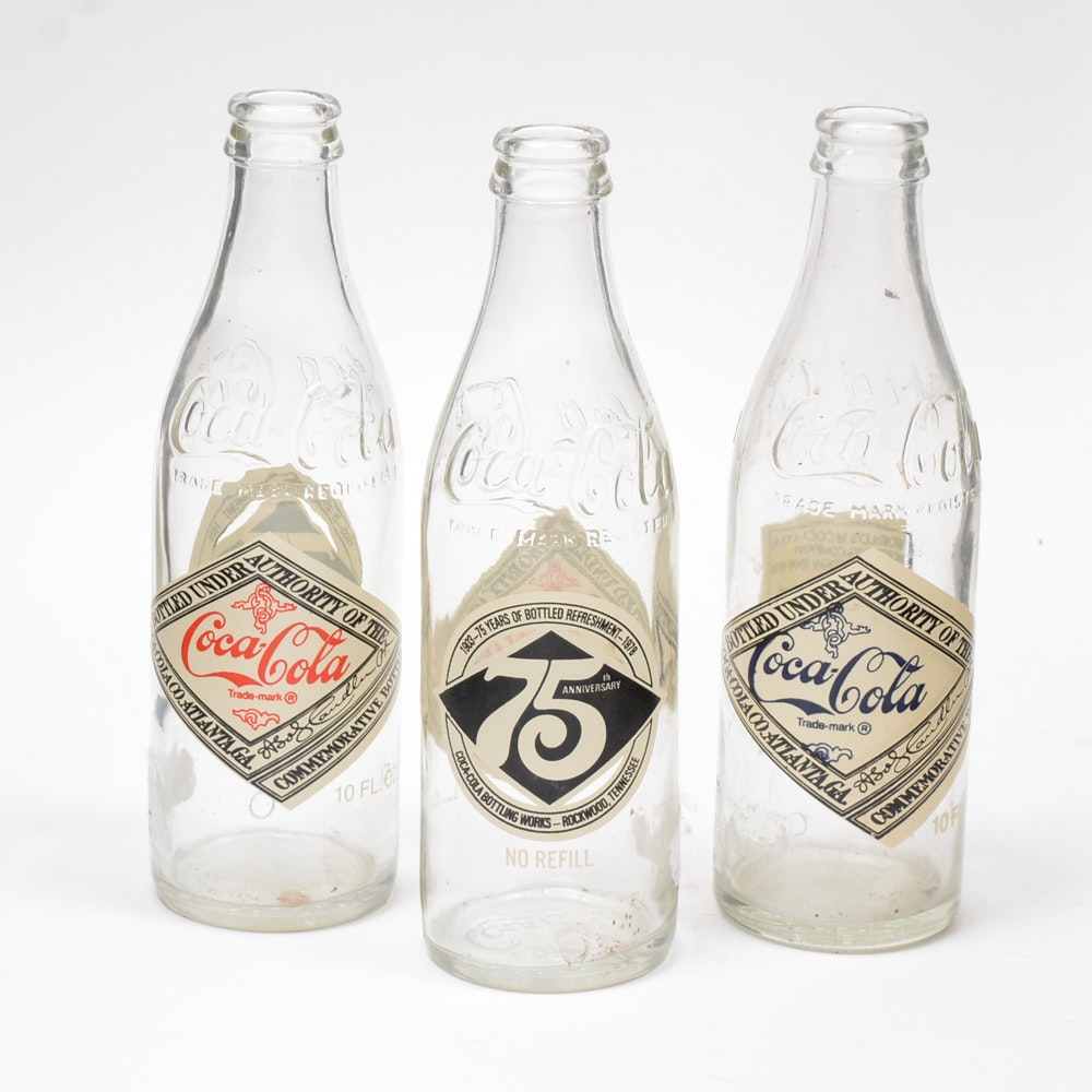 75th Anniversary Coca-Cola Bottles