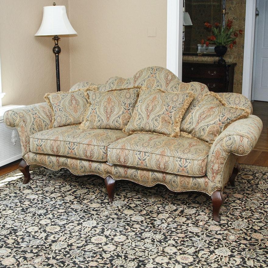 Super Hickory White Upholstered Camelback Sofa Machost Co Dining Chair Design Ideas Machostcouk