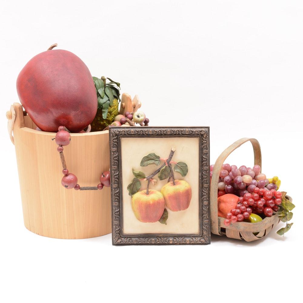 Fruit and Cedar Bucket Decor