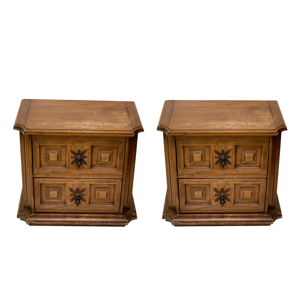 Pair of Matching Nightstands by American of Martinsville