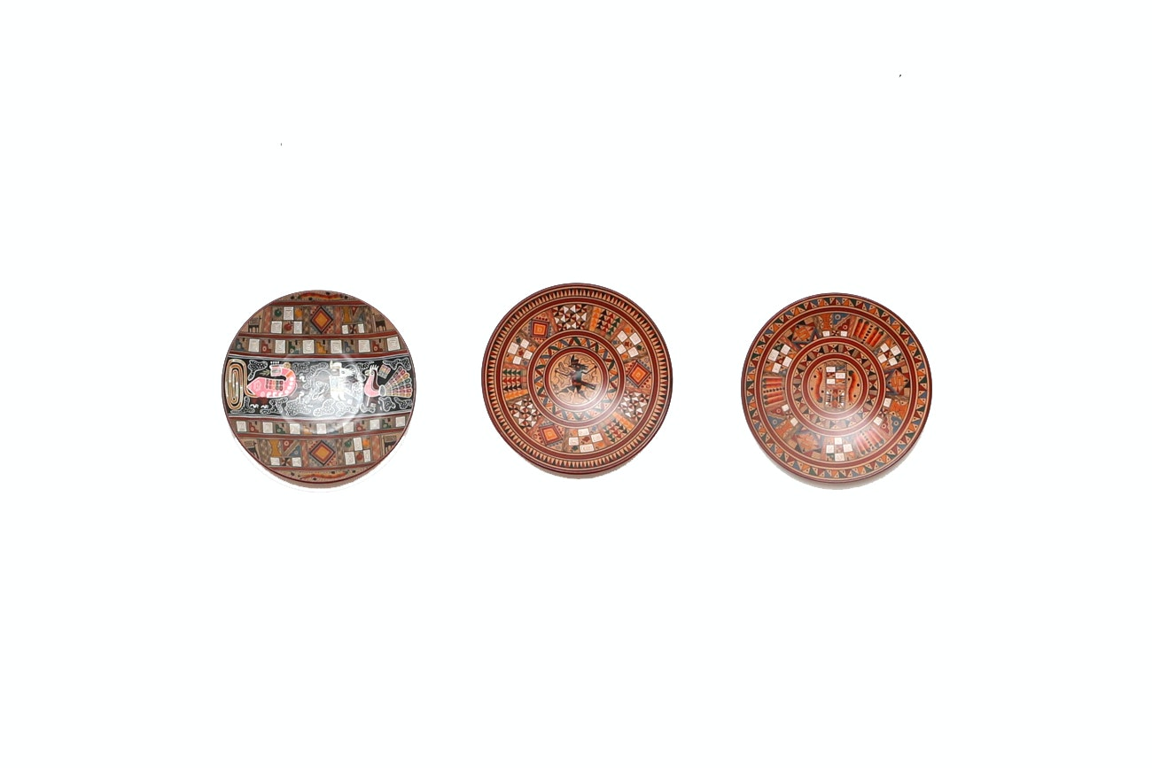 Grouping Of Hand Painted Mexican Plates