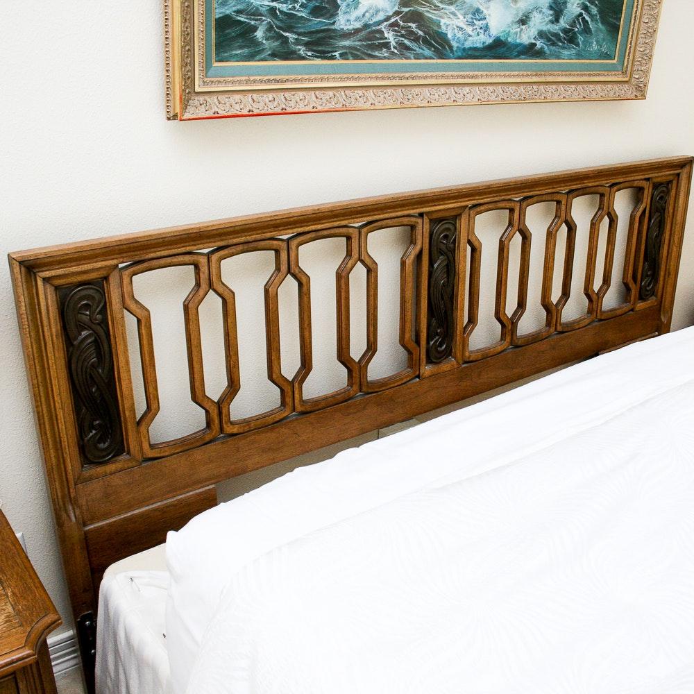 Ornate Wooden Headboard