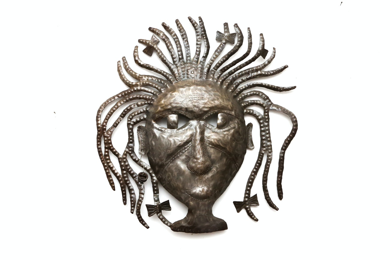 Folk Art Metal Wall Sculpture By Peterson Joseph