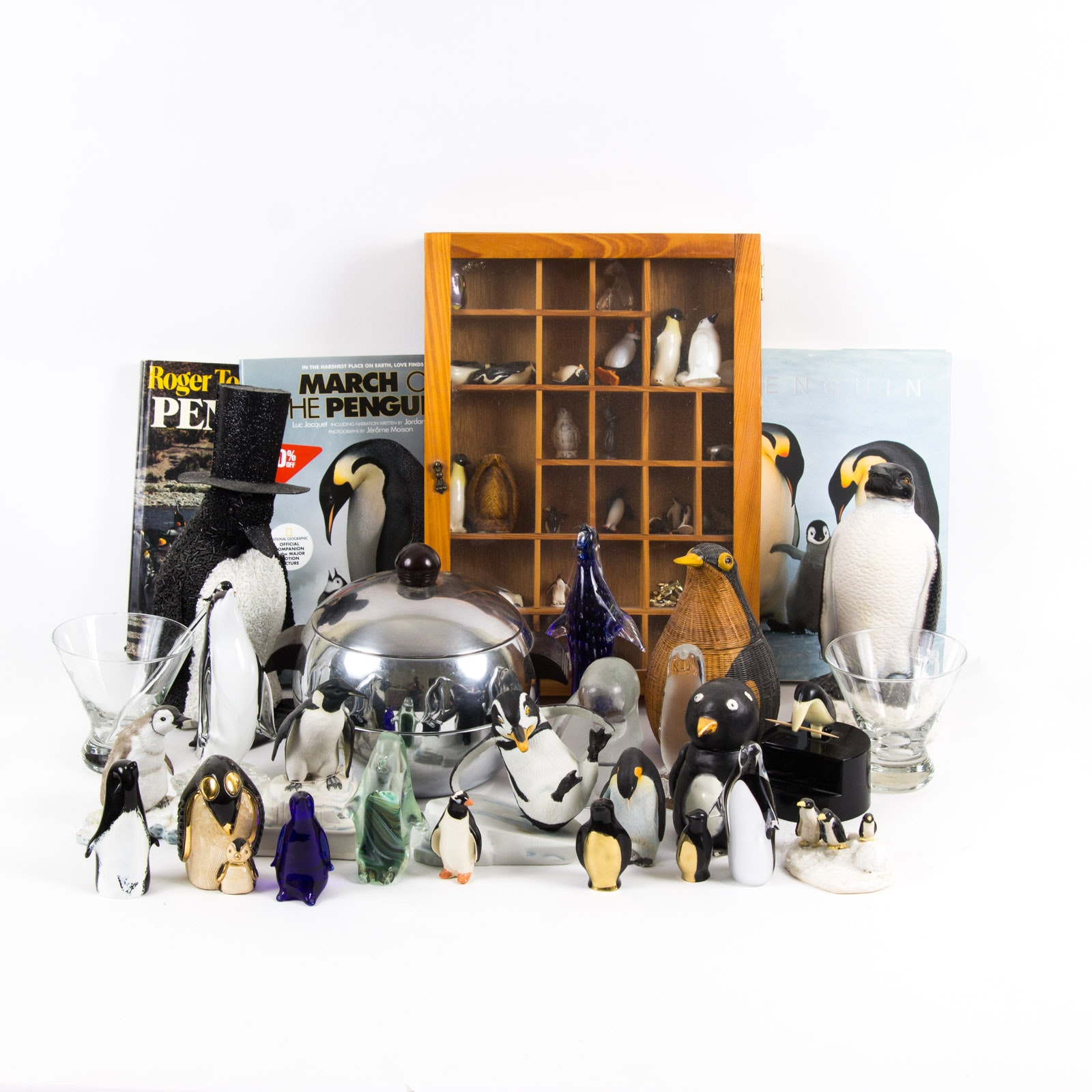 Penguin Themed Home Decor and Literature Assortment