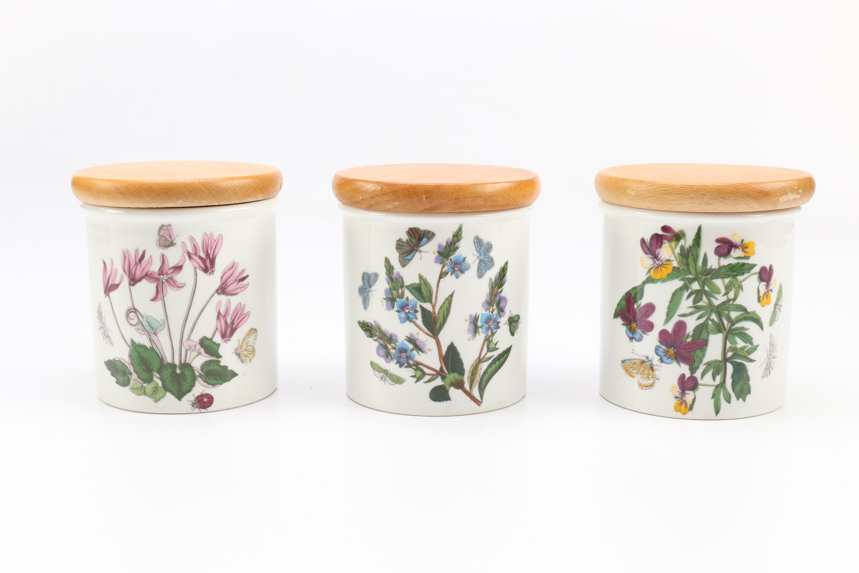 Purple Kitchen Canisters Portmeirion Botanical And Fruit Themed Ceramic Canisters