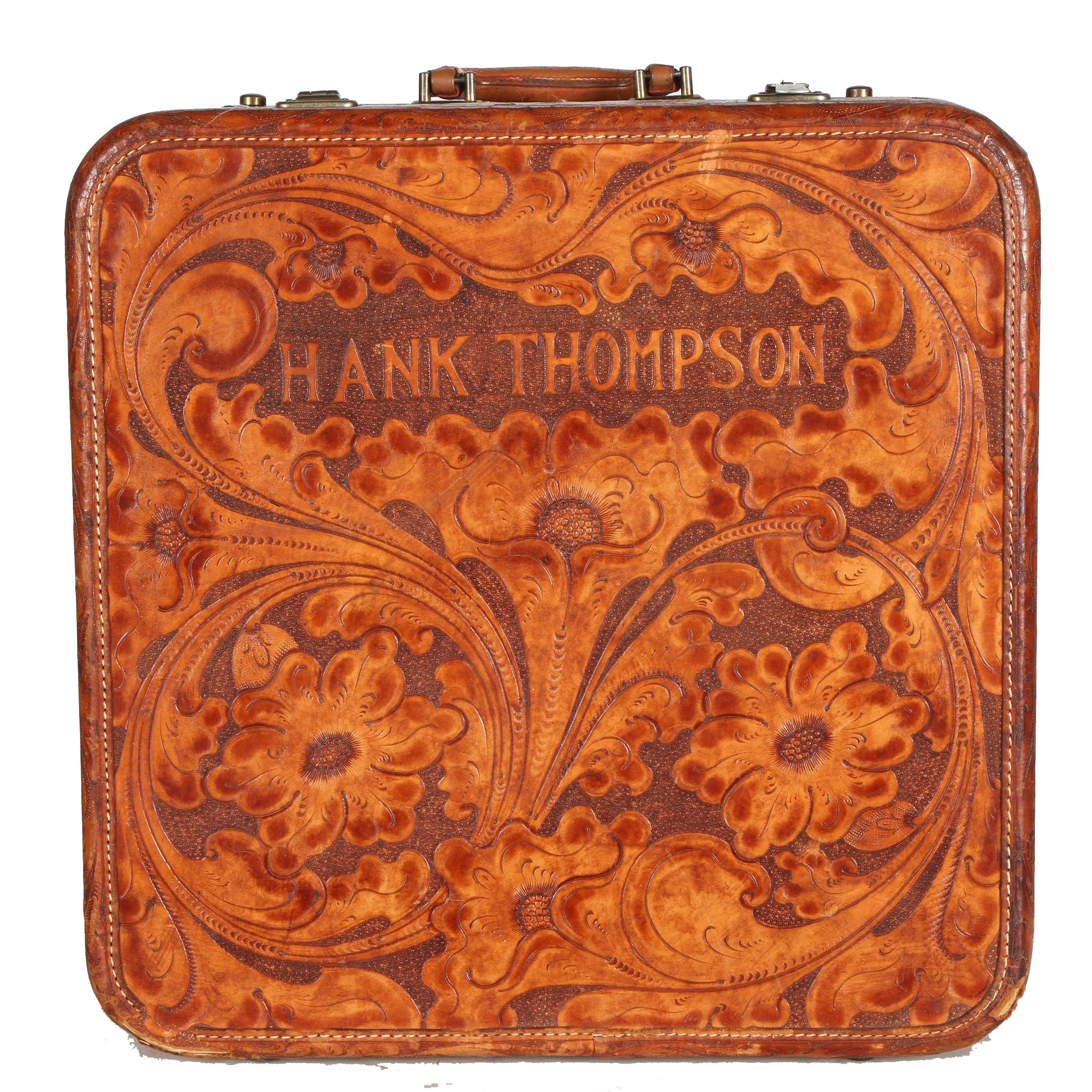 Circa 1957 Custom Roark Tooled Leather Case For Hank Thompson