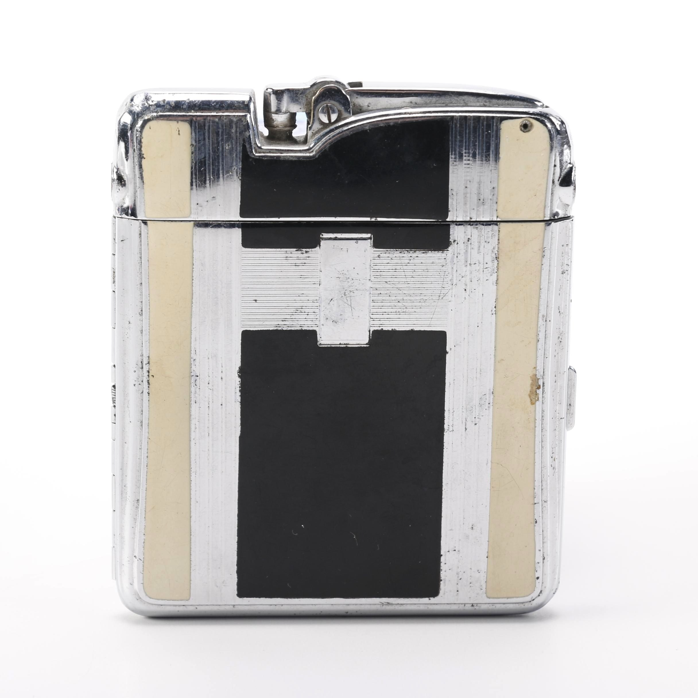 Ronson Art Deco Combination Cigarette Case and Lighter