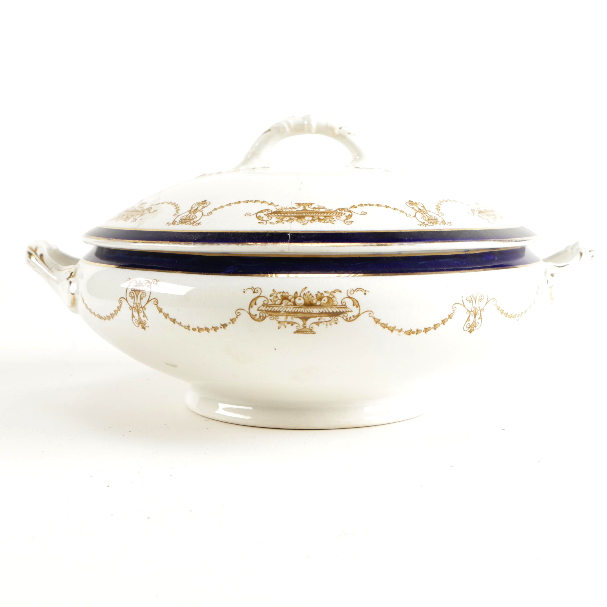 "Pountney and Bristol Lidded ""Cynthia"" Covered Tureen"