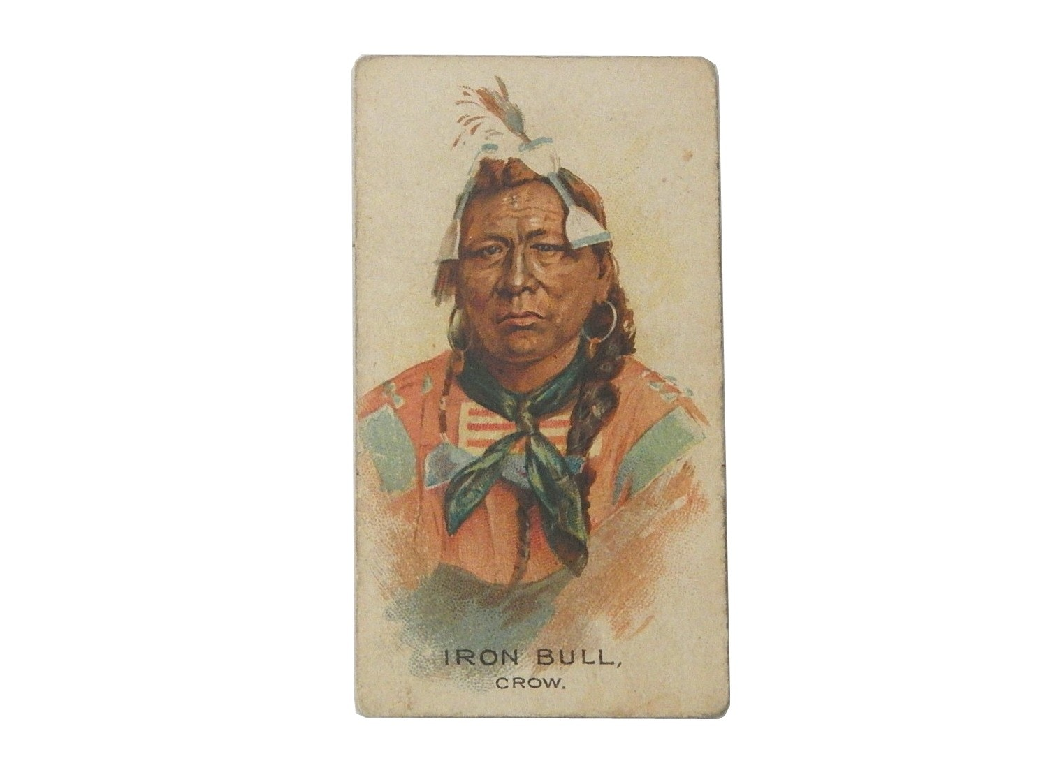 1888 Allen & Ginter NQ Chief Iron Bull Tobacco Card