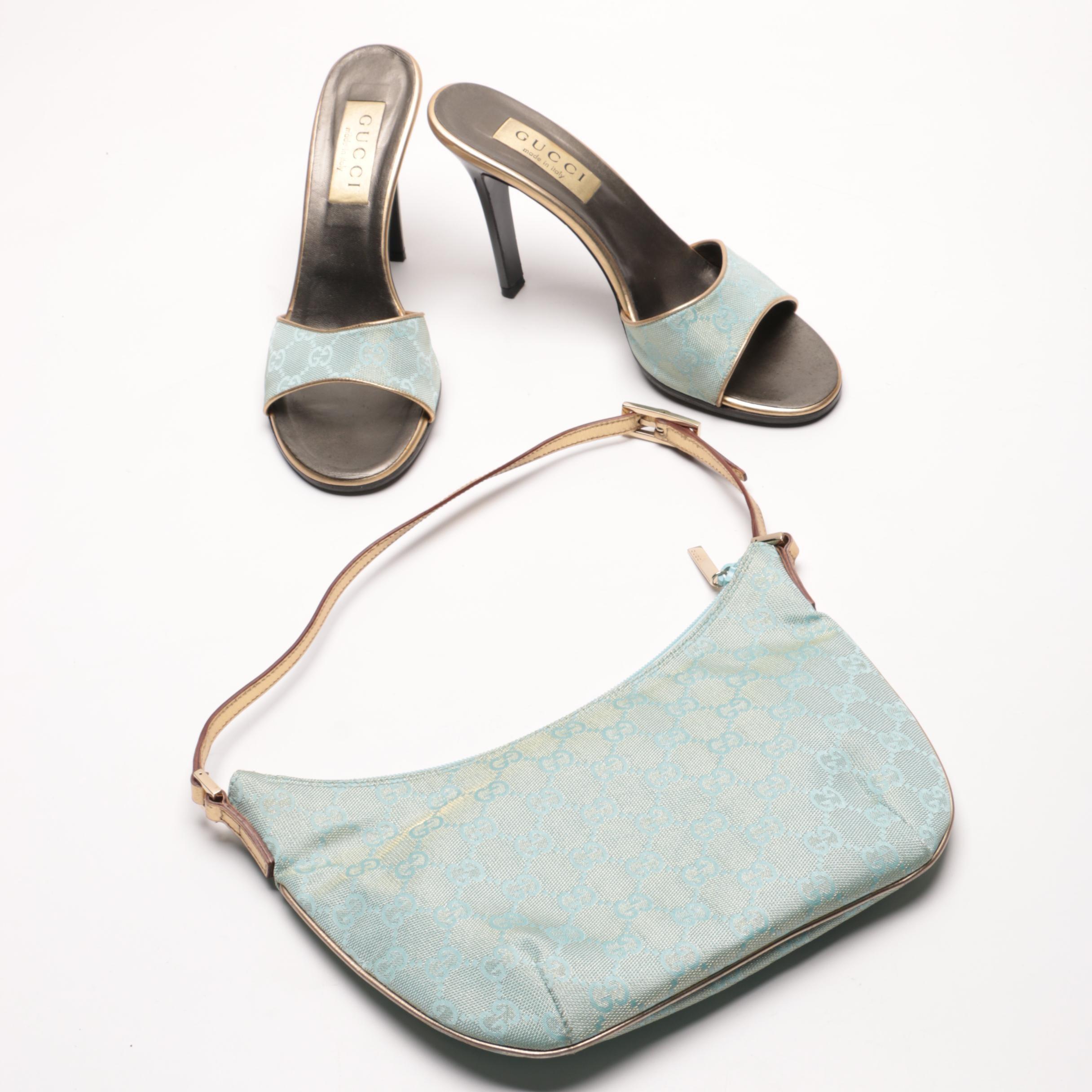 Gucci Canvas Heels and Handbag